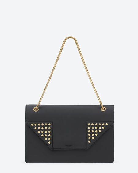ysl brown leather bag - Classic Saint Laurent Medium Betty Clous Bag in Black Leather ...