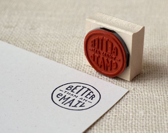 Better Than an Email Stamp :: rubber stamp.