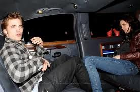 in a limo