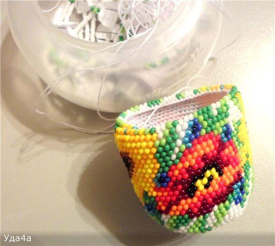 Яйцо пасхальное для обвязывания крючком с бисером | biser.info - всё о бисере и бисерном творчестве
