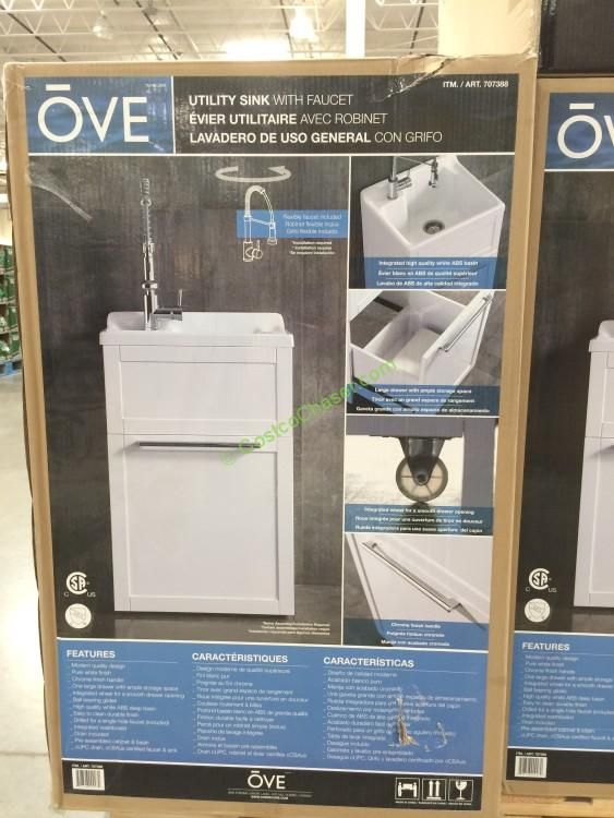 Ove 22 Daisy Utility Cabinet With Sink Faucet Sink Faucets