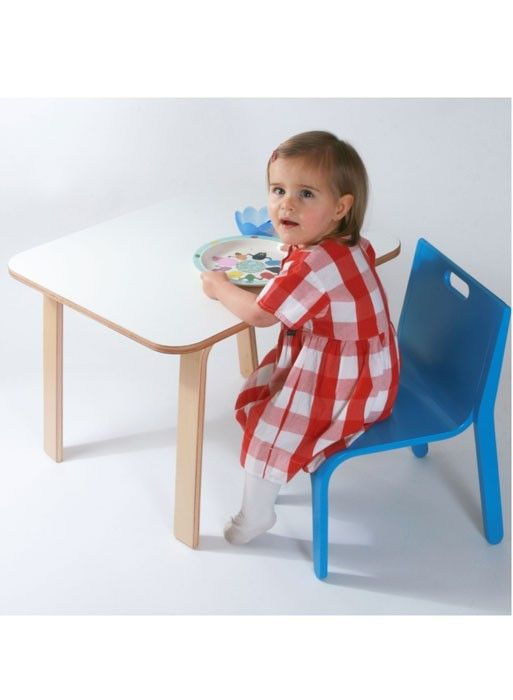 Child's table by Alex MacDonald for the Collection Editions.  A small child's table that can also double up as a desk. Delivered flat and assembled in a minute!