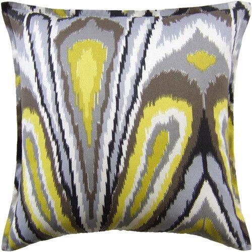 Peacock Print Indoor/Outdoor Pillow - Driftwood Grey