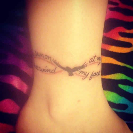 Infinity Tattoo, The wind at my back, the sun on my face. #tattoo #infinity #ankle