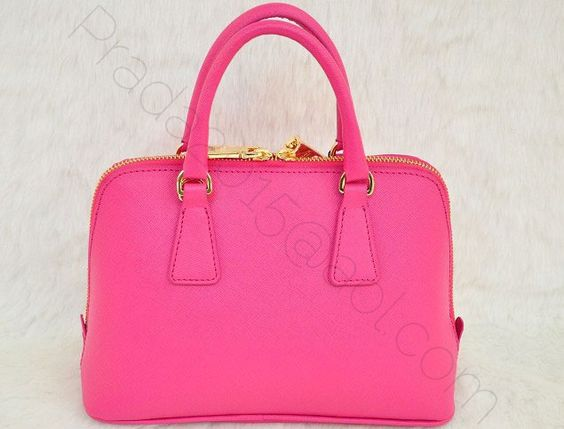 €142.00 sale prada mini saffiano top handle in hotpink outlet florence