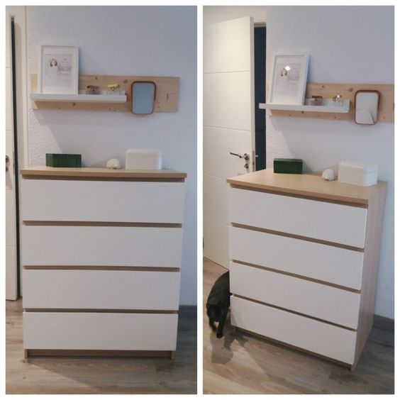 Ikea hack c moda malm ikeahack dormitorio bedroom for Comodas en ikea