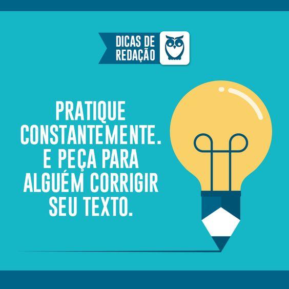 Peça ajuda na hora de corrigir. Muitas vezes não percebemos alguns erros, e é importante saber em que estamos errando para acertar no dia da prova. #estude #dica #texto #redacao #ajuda #dicas #frases #corrija