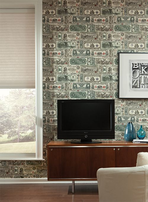 Easy Come, Easy Go - just like real money. Sure Strip removable wallpaper!