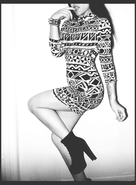 Tribal Turtle Neck Body Con dress  From Forever 21. *Now available at our Storenvy store.
