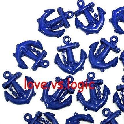 25 Baby Anchor Plastic CharmsNavy by lovevslogic on Etsy, $3.00