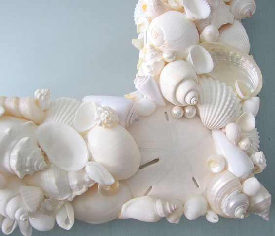 Seashell Mirror, Beach Decor Shell Mirror, Nautical Decor ...