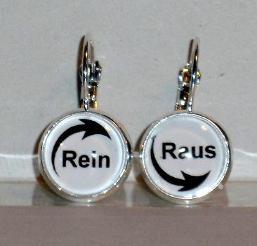 Ohrringe Rein Raus Modeschmuck Damen Hänger Ohrschmuck Glas Legierung Neuware