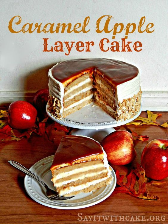 Caramel Apple Layer Cake, sounds like one we should do for the dessert table.
