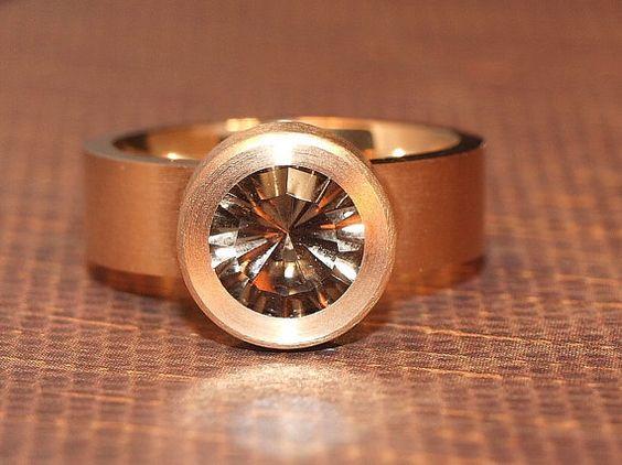 Quantum Cut Smokey Quartz Ring Size 8 FREE by PristinoJewelry, $75.00