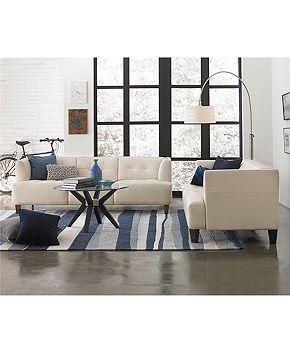 Alessia leather sofa living room furniture collection Macy s living room furniture sale