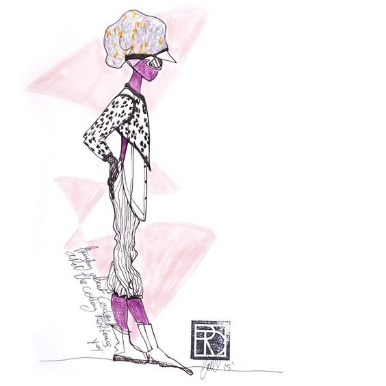 """""""Looking ahead: textures and """"collage dressing"""". Coming soon #TRD #trends #texture #trendoftheday #instadaily #inspiration #linedrawing #brooklynstyle…"""""""