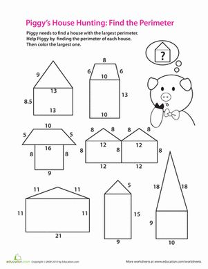 Printables Third Grade Geometry Worksheets find the perimeter geometry worksheets and third grade perimeter