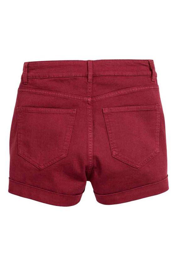 Pantaloni scurți, talie înaltă | H&M