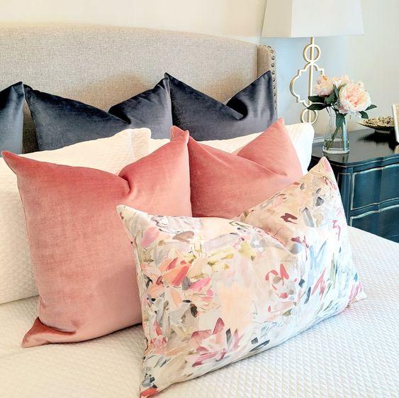 Rosy Pink Velvet Pillow. Pink velvet pillow. Lo Home pillows. Velvet pillows. pink pillow.