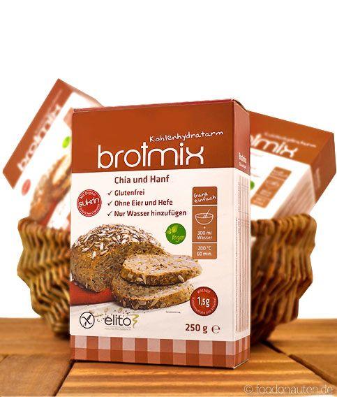 Low Carb Brotbackmischung Chia-Hanf-Brotmix, glutenfrei, sojafrei, Elito Health Science, 250g