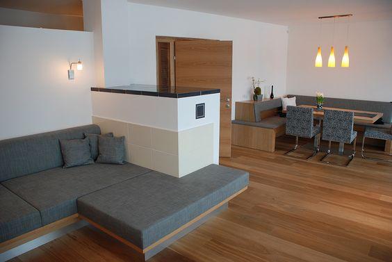 Modernes Landhaus Traditioneller Ofen im Wohnzimmer Stove