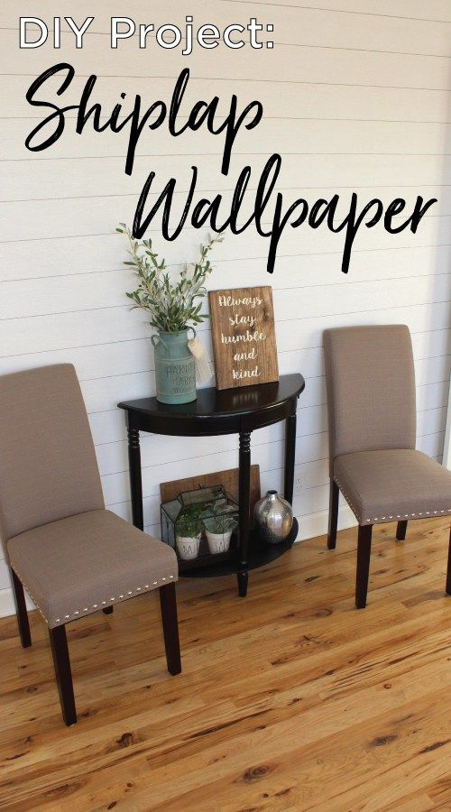 How To Apply Shiplap Wallpaper Bathroom Kitchen