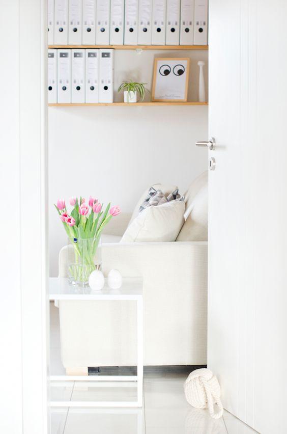 Scandinavian Interior Home Table Couch Door Flower