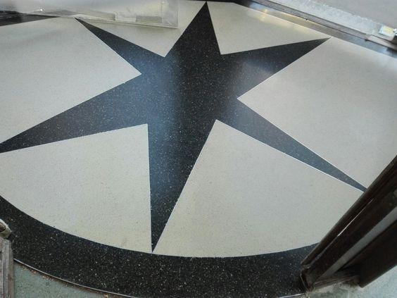 Estrella de terrazo en trabajo de rehabilitación de Terraconti