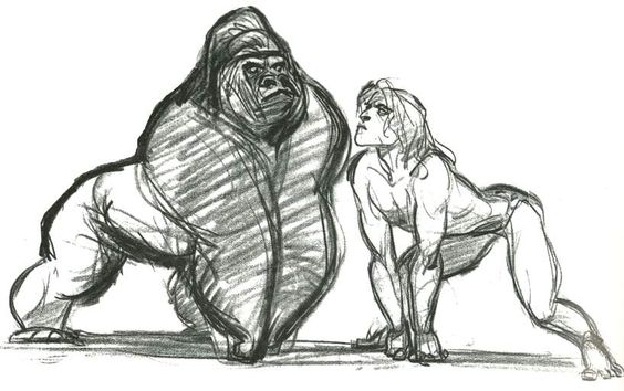 TARZAN ★ || Art of Walt Disney Animation Studios © - Website | (www.disneyanimation.com) • Please support the artists and studios featured here by buying their works from their official online store (www.disneystore.com) • Find more artists at www.facebook.com/CharacterDesignReferences and www.pinterest.com/characterdesigh || ★