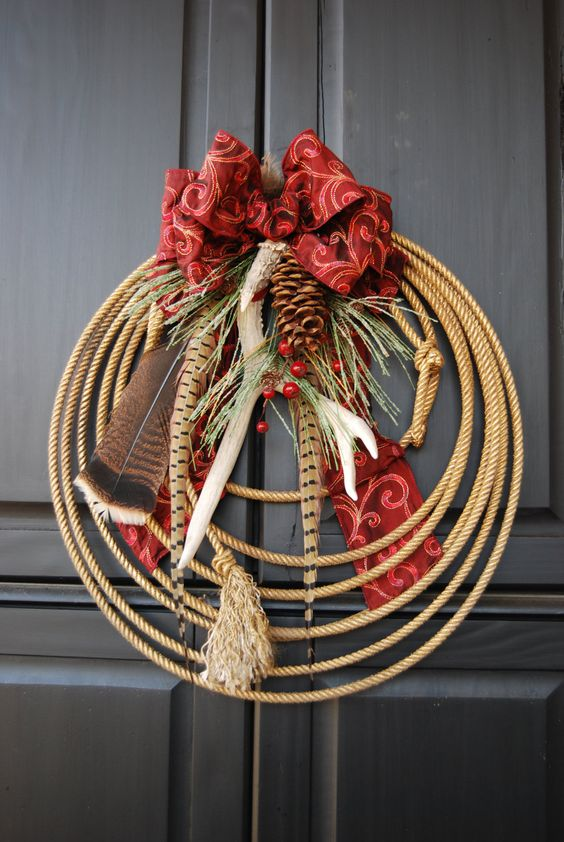 This Is So Cute Christmas Antler Rope Wreath Quot Wild Woods