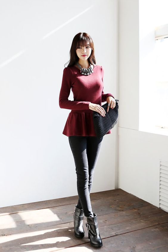 Feminine Frill Knit Top