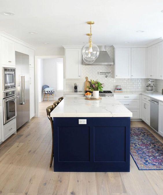 Mimic- lights, tile, colors, rug #kitchendesignely