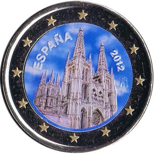 Moneda Conmemorativa 2 Euros Espana 2012 Burgos Color B En 2020