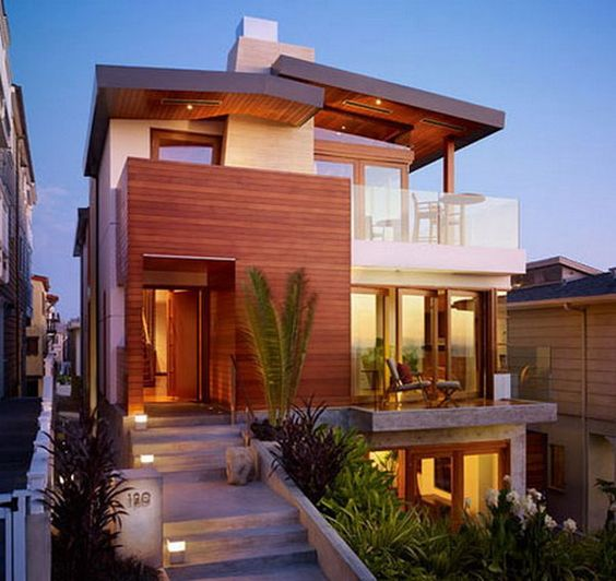 Wood Cladding For A Tropical Modern House