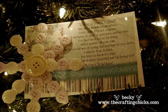 Button snowflake and free printable poem from @The Crafting Chicks