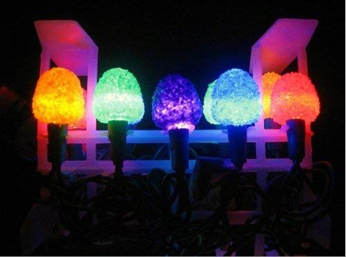 Amazon Com Sugar Coated Led Gumdrop Christmas Light Strand Set Of 50 Lights Ho Christmas Pathway Lights Outdoor Christmas Tree Decorations Christmas Lights