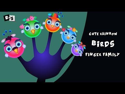 The Finger Family Cute Rainbows Birds Family Nursery Rhyme | Songs for Kids | Children songs - YouTube