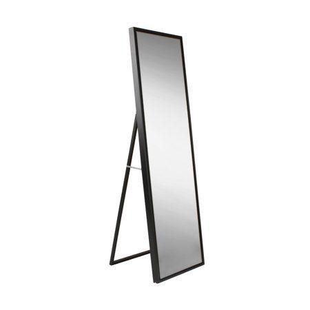 Kate And Laurel Evans Wood Framed Free Standing Floor Mirror 8w X 58h In Walmart Com Standing Mirror Mirror Full Length Mirror