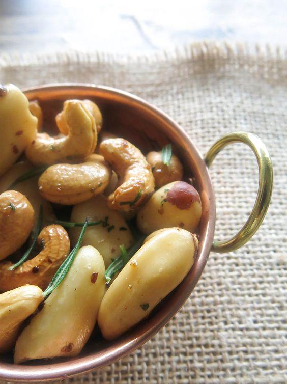 Por um Natal mais leve – Castanhas tostadas com alecrim e pimenta caiena