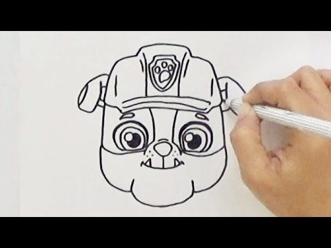 Youtube Paw Patrol Coloring Pages Paw Patrol Coloring Rubble Paw Patrol
