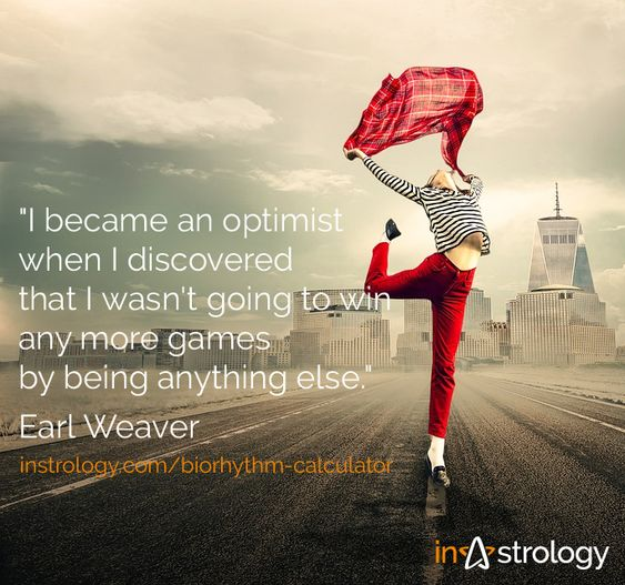 Optimist quote - Biorhythm calculator