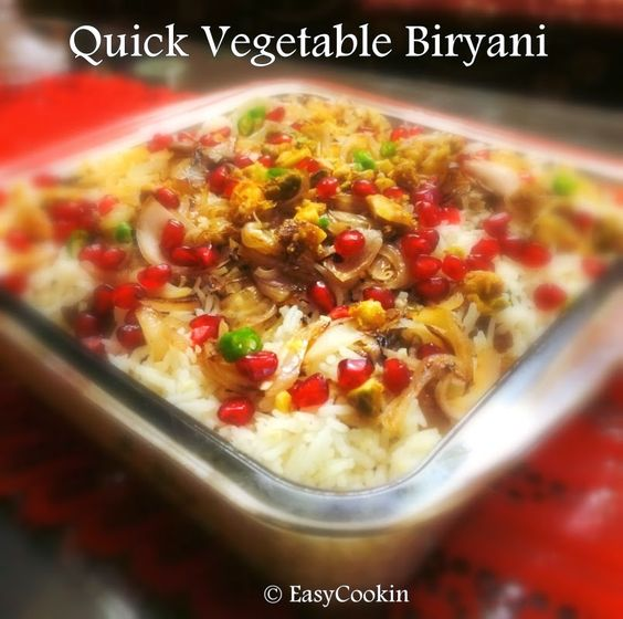 restaurant style quick vegetable biryani easy yet