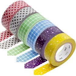 set van 6 japanse washi tapes
