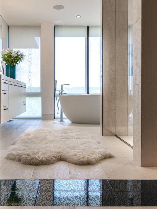Bath Rug And Ocean Bathroom Fur
