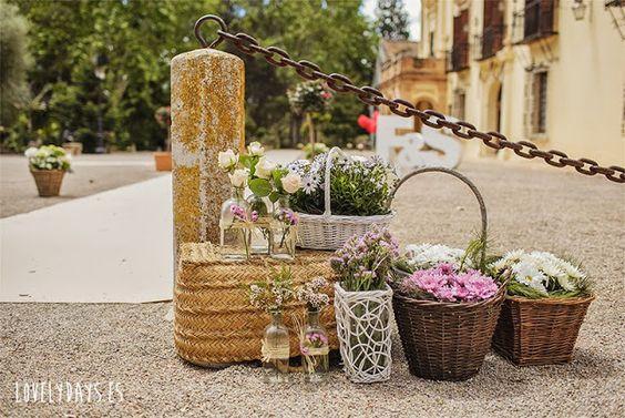 Decorando con cestas y flores love it foto lovely days - Decorando con fotos ...