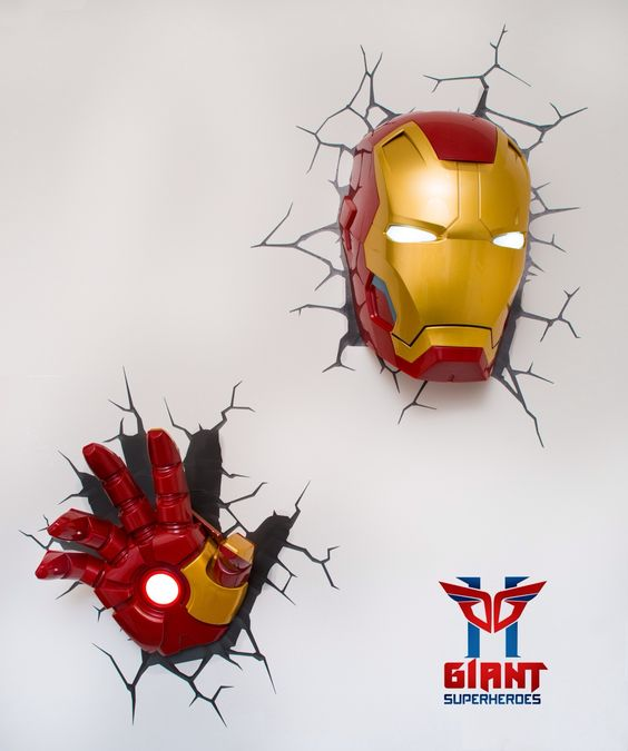 3d Wall Light Kmart : 3d wall, Avengers and For sale on Pinterest