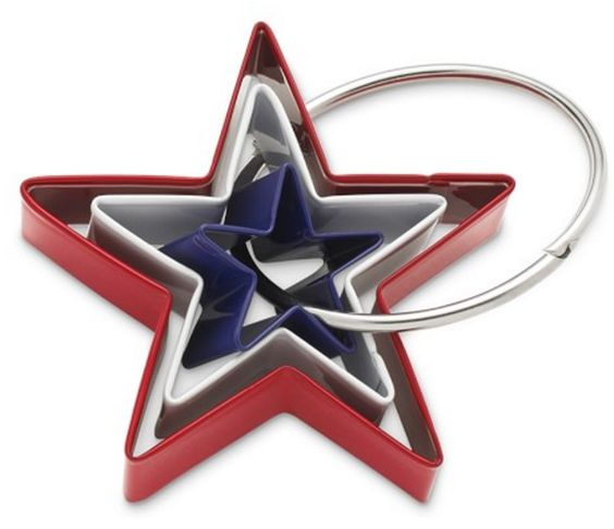 Red White and Blue Star Cookie-Cutter Set