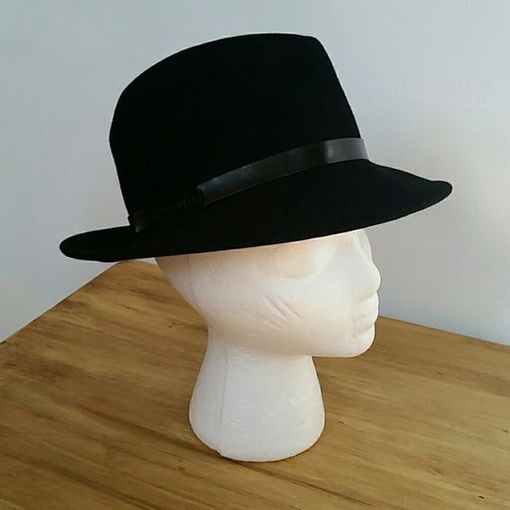 Black Wool Fedora Hat by Nine West Worn only a handful of times! The hat has a thin leather band. Great style. Reasonable offers welcome through the offer button.  Bundle 2 or more items and save! Nine West Accessories Hats