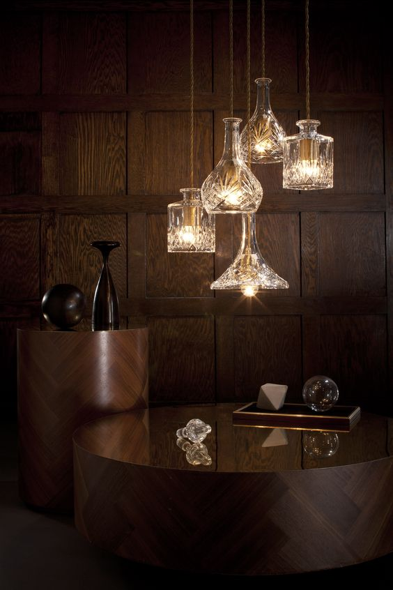 Decanter Lights - Decanterlight Chandelier | #LeeBroom www.bijdendom.nl