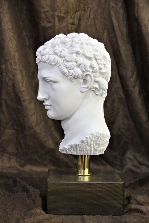 Head Of Olympia Hermes On Base Bust Statue Statue Roman Statue Hermes Statue